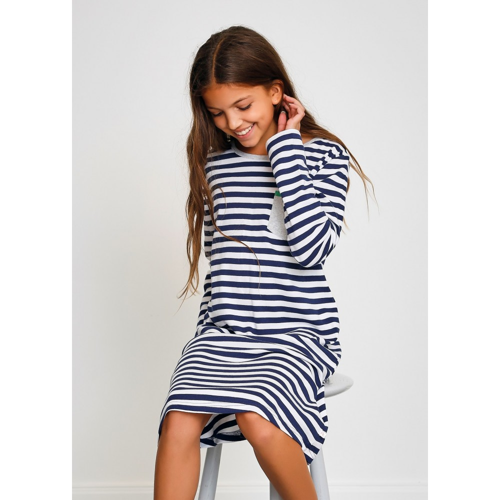 Navy & White Stripe Teen Nightie PJ