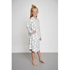 Grey Loveheart Teen Nightie PJ