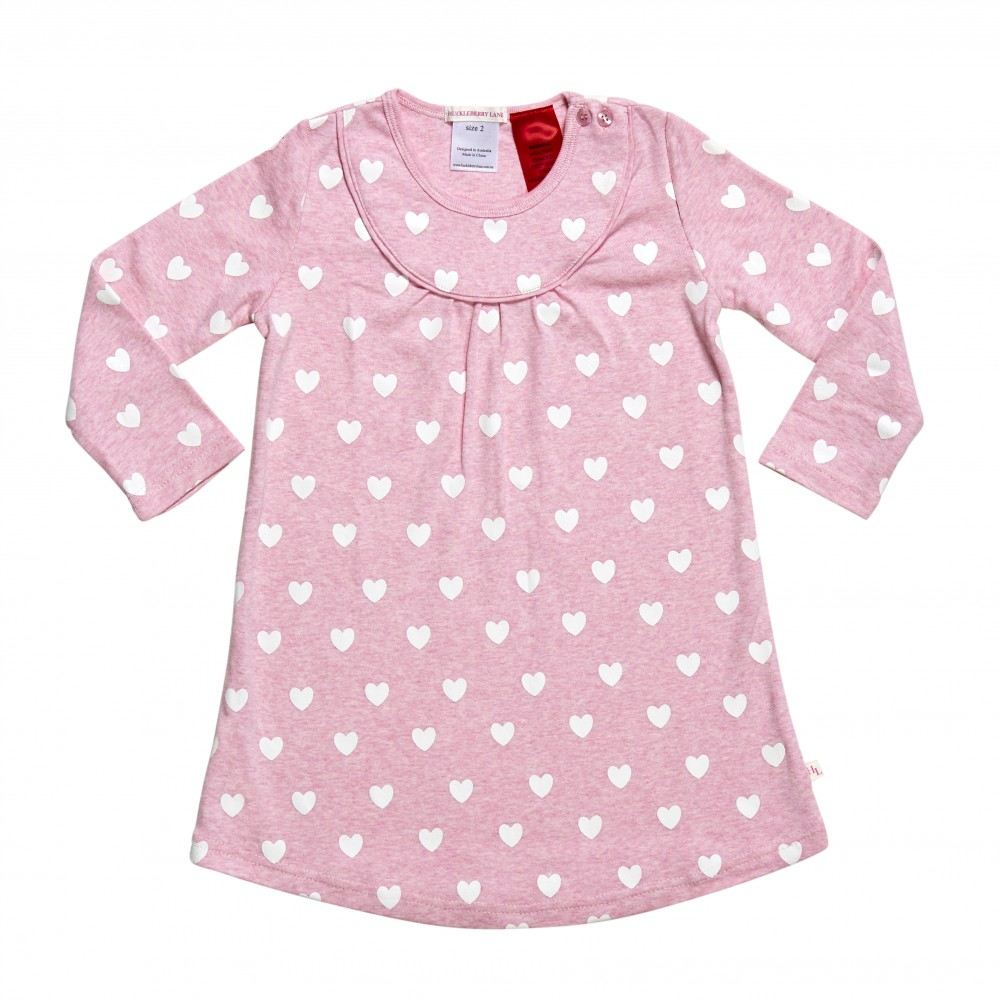 Pink Loveheart Nightie