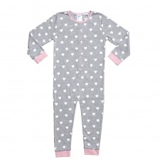 Grey Loveheart Onesie
