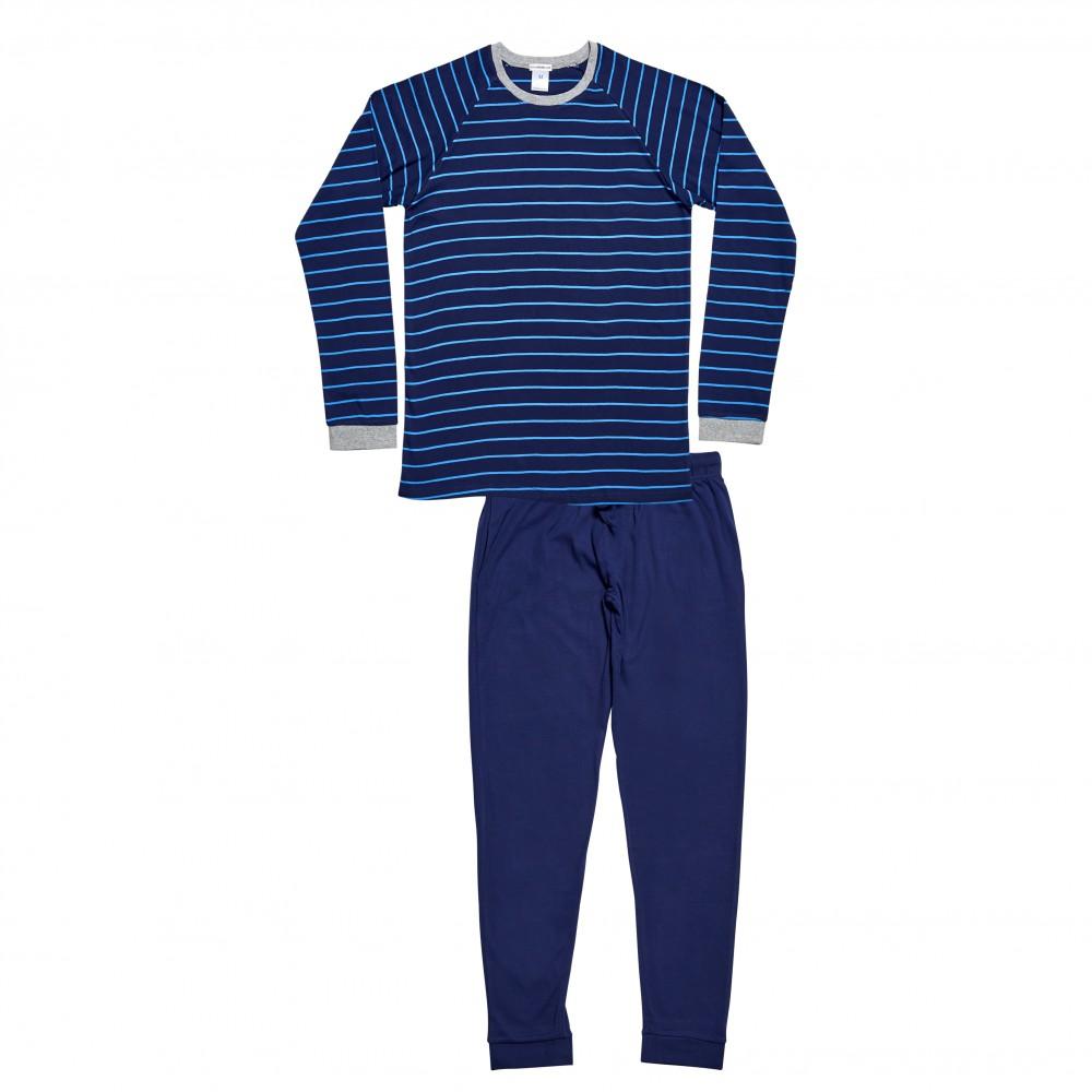 Men's Bright Blue Striped PJ