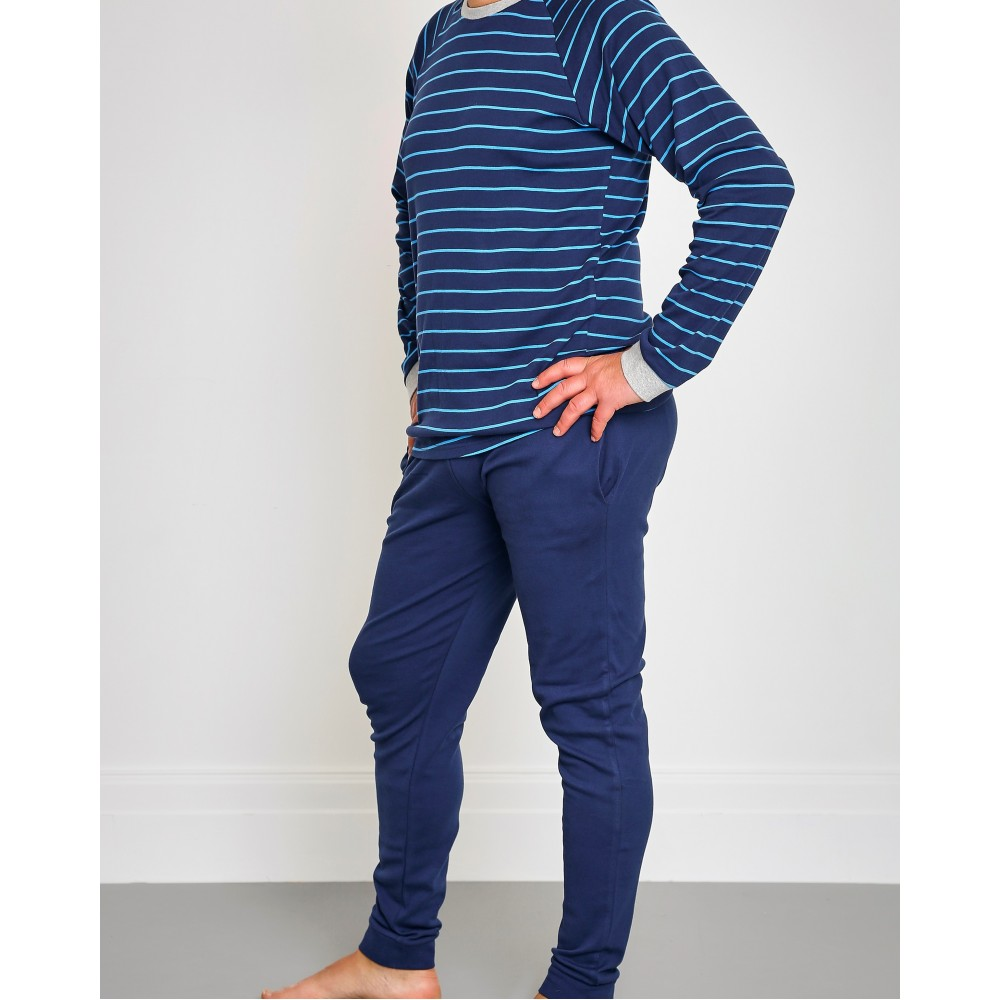Men's Bright Blue Striped PJ