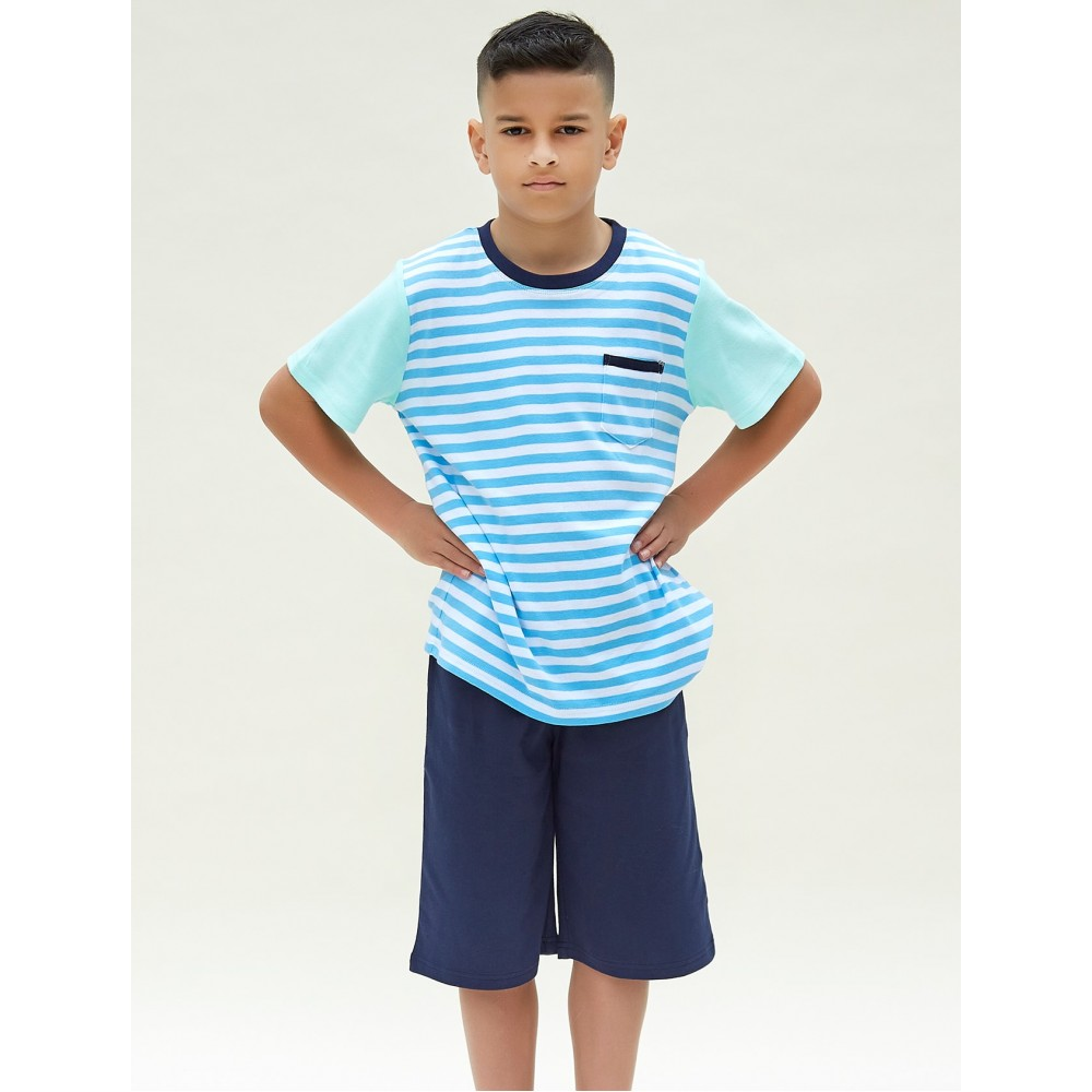 Bright Blue Stripe Teen PJ