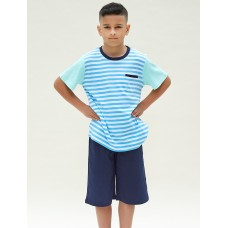 Bright Blue Stripe Teen PJ