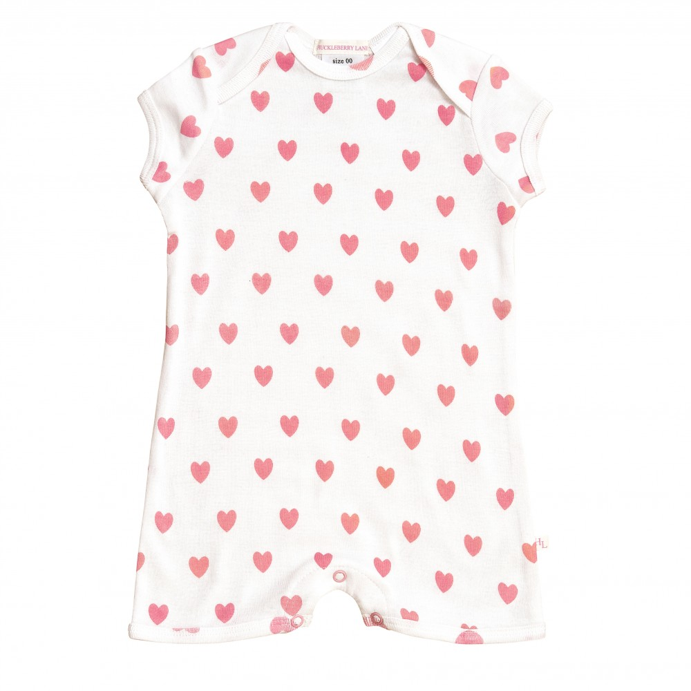 Pink Loveheart Romper