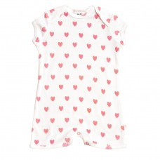 Pink Loveheart Romper