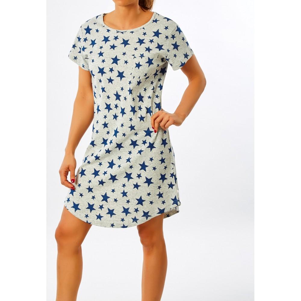 Womens Navy Star Nightie