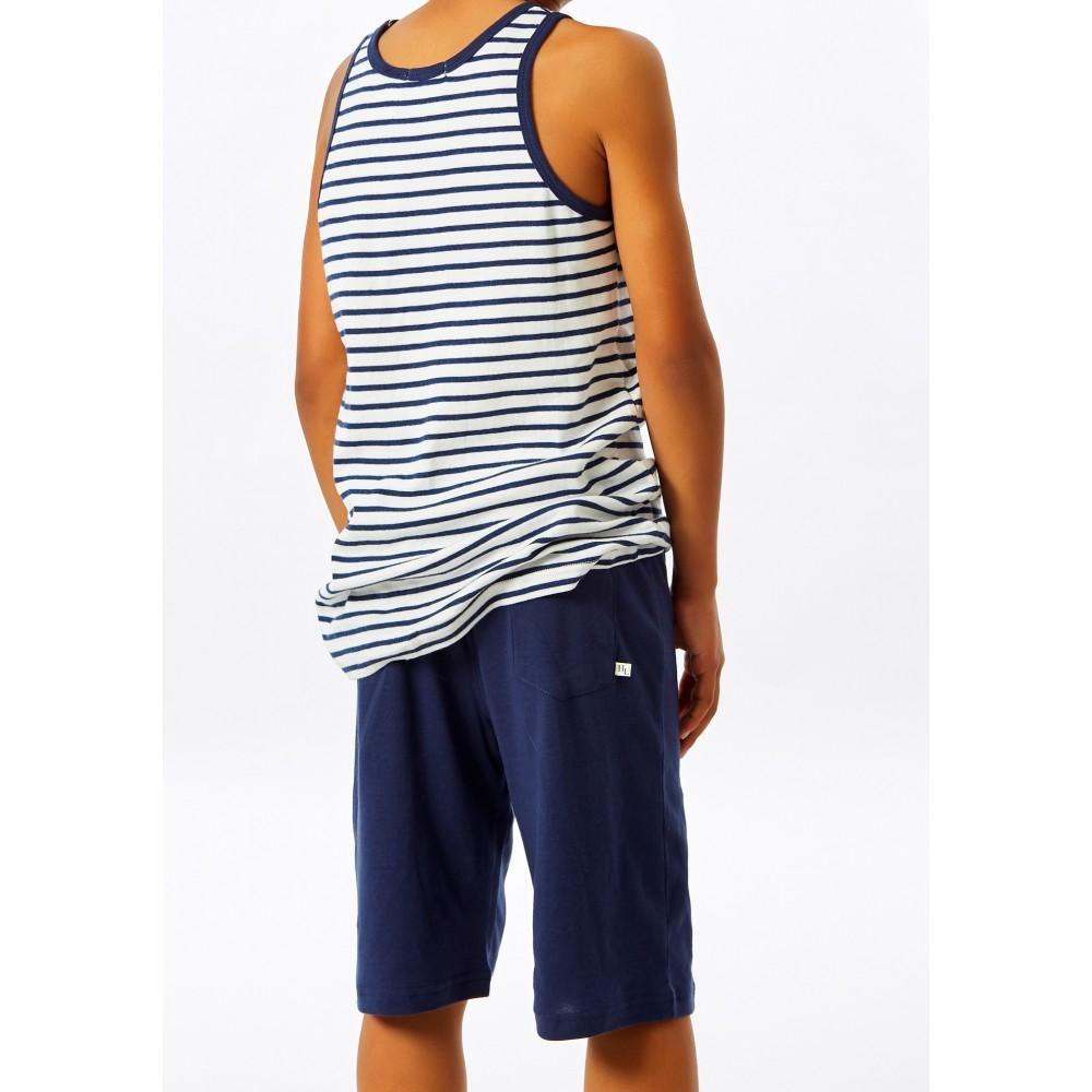 Navy Stripe Singlet Teen PJ