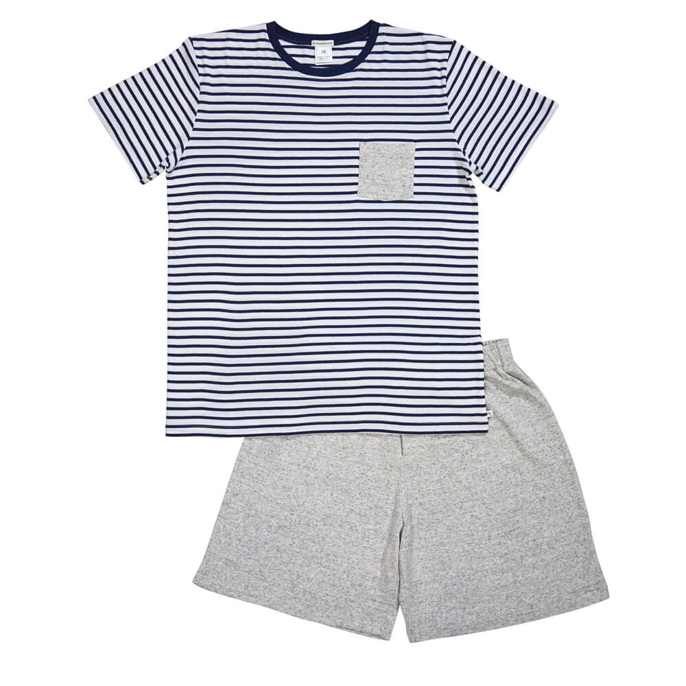 Mens Navy Striped PJ