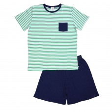 Mens Green Stripe PJ