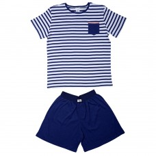 Men's Navy Stripe Pocket PJ