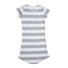Women's Grey Stripe Nightie