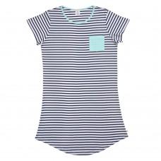Women's Navy Stripe Nightie