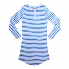 Womens Blue Striped Nightie