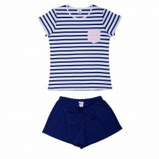 Women's Blue Stripe PJ Set