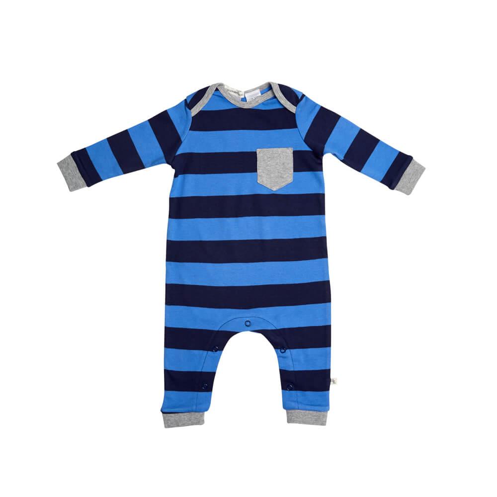 Blue Stripe Romper