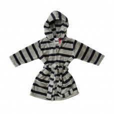 Navy Stripe Dressing Gown
