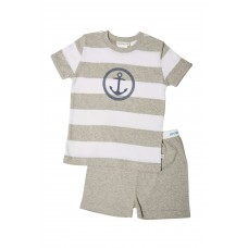Grey Stripe Anchor PJ
