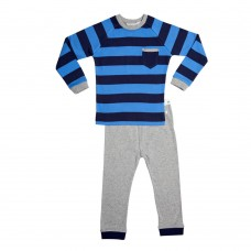 Blue Stripe Pocket Pj