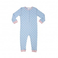 Girls Blue Spot Onesie