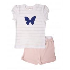 Pink Stripe Butterfly PJ