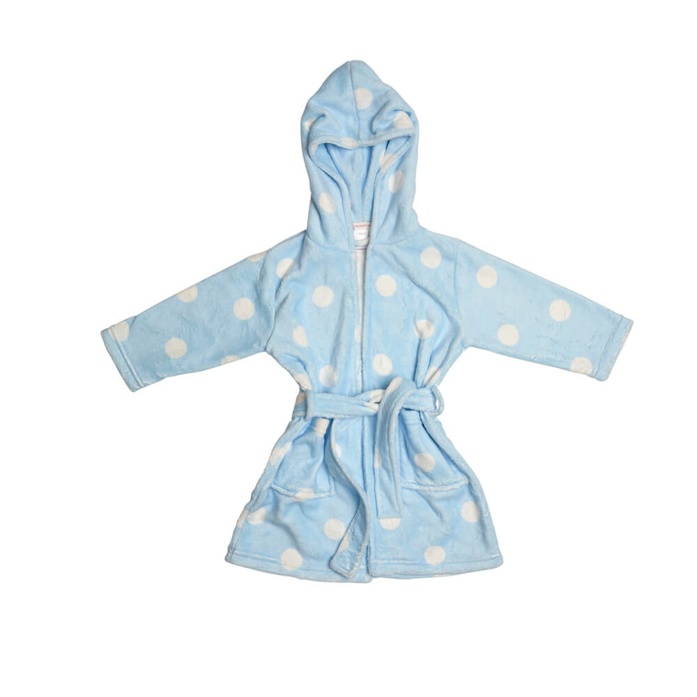 Blue Spot Dressing Gown