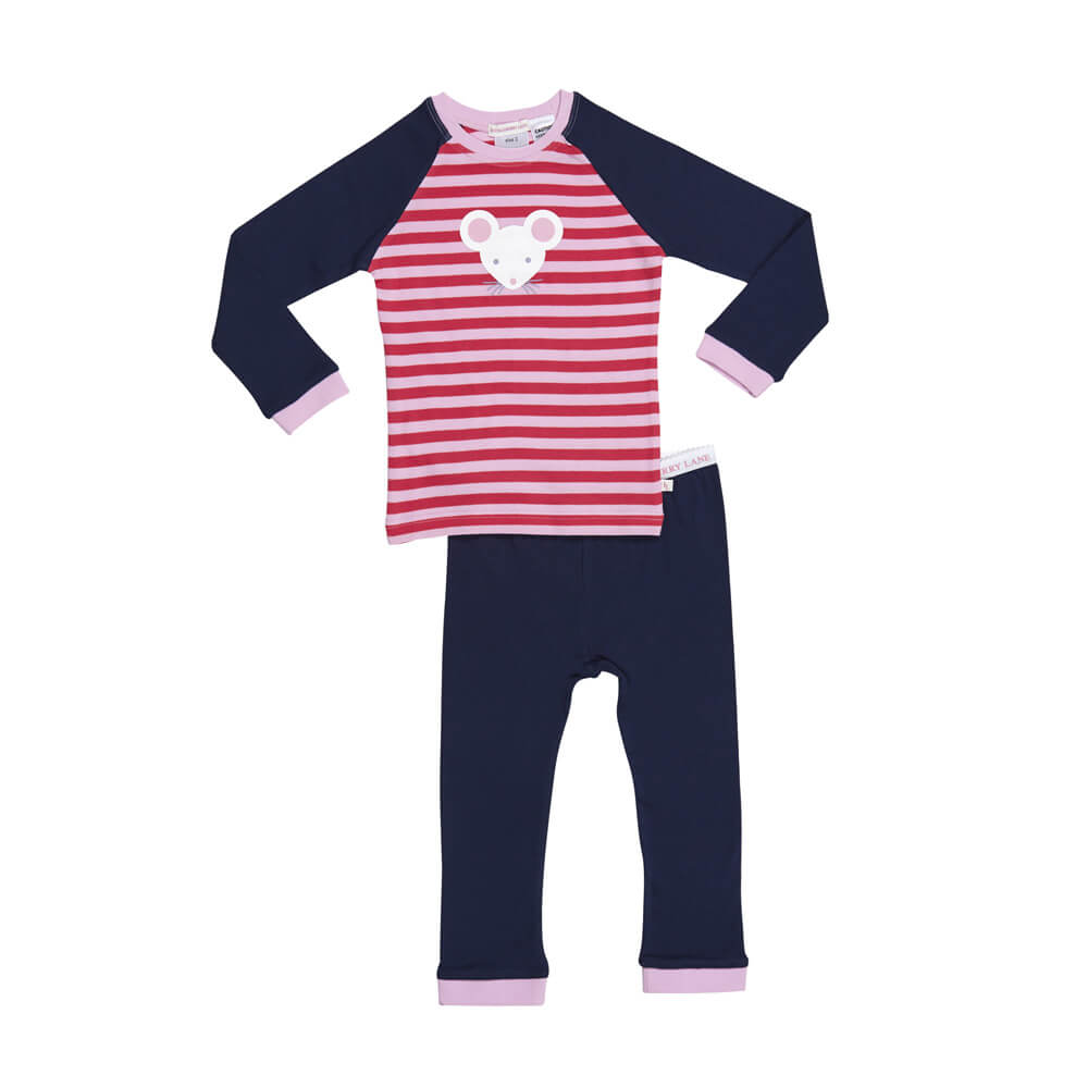 Pink Stripe Mousey PJ