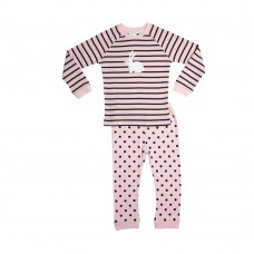 Pink Stripe Bunny PJ
