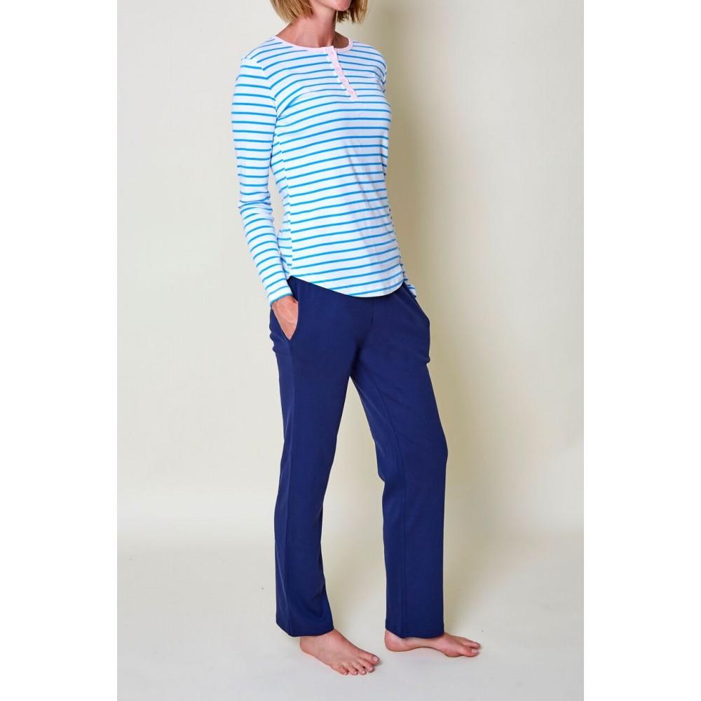 Womens Blue Stripe PJ