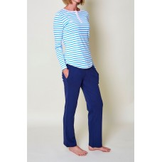 Womens Blue Stripe PJ