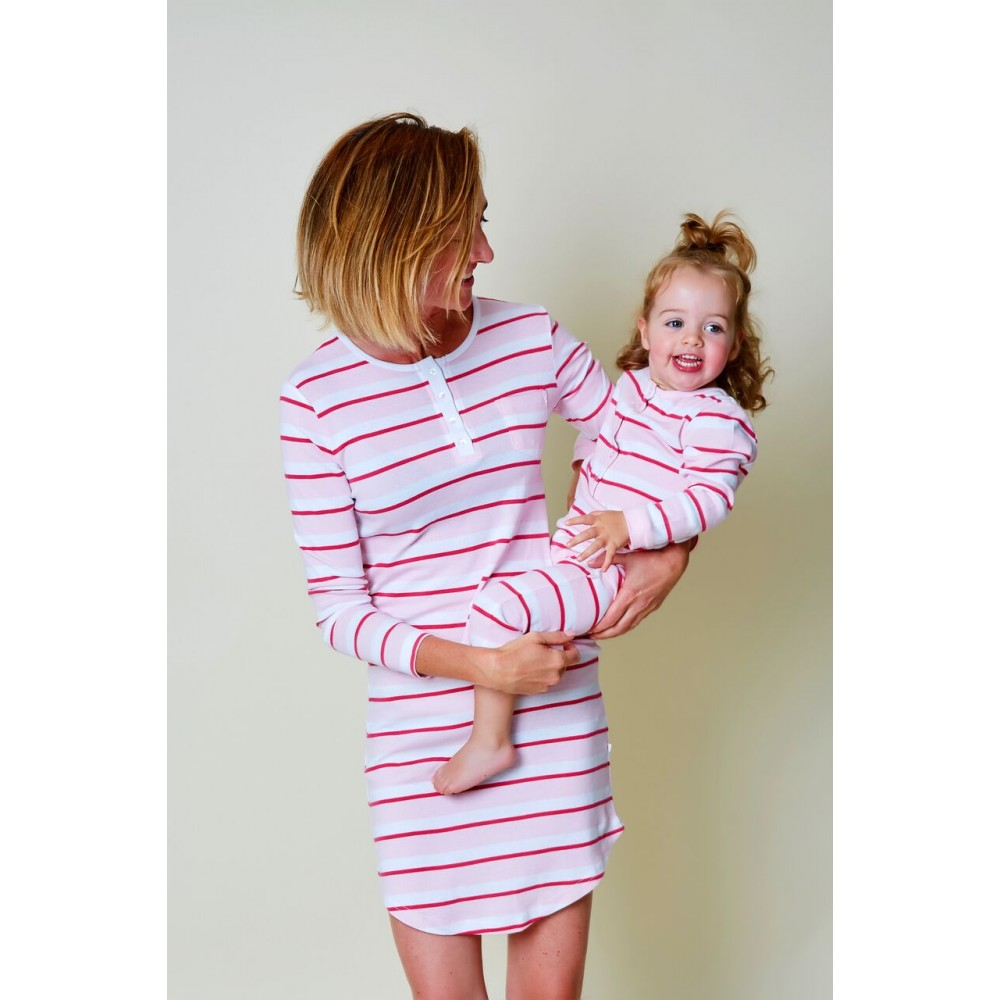 Womens Red Striped Nightie