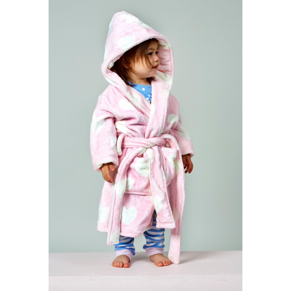 Pink Loveheart Dressing Gown
