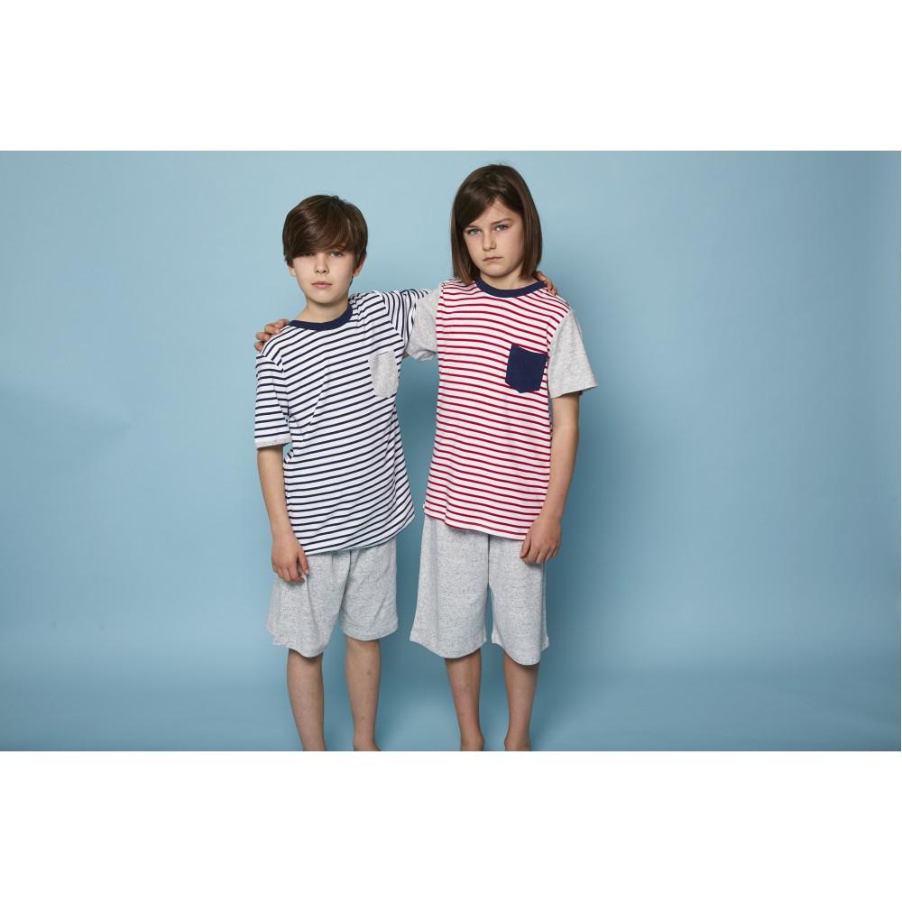 Red Stripe Plain Teen PJ