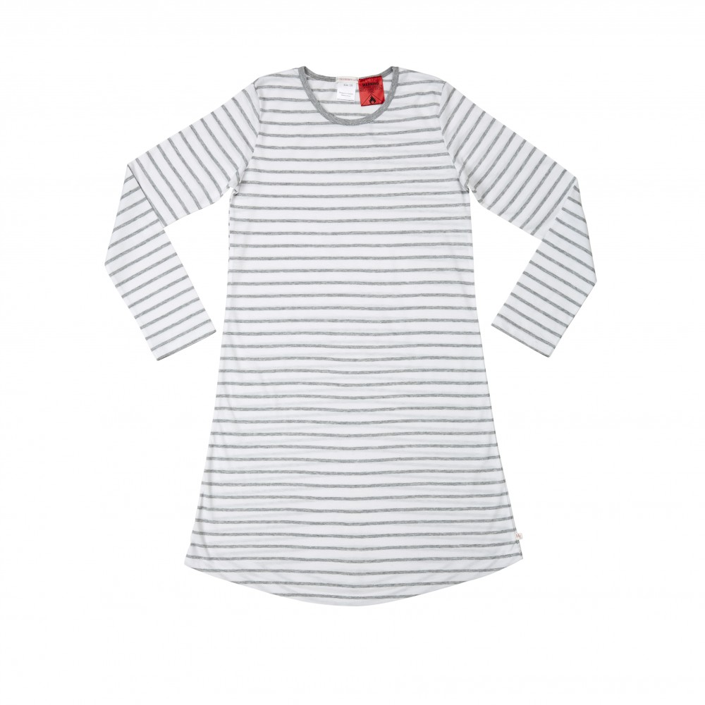 Grey Stripe Teen Nightie