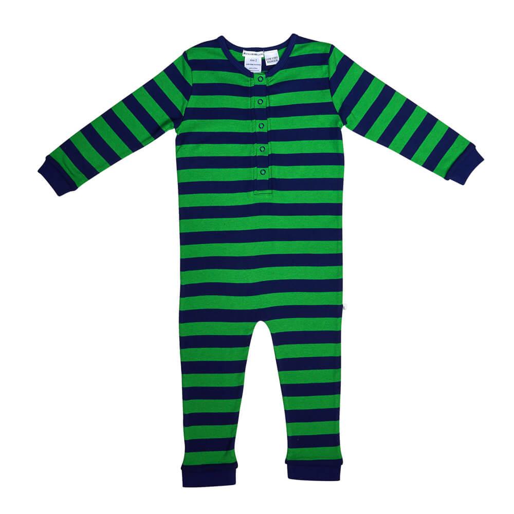 Green Striped Onesie Teen Pj