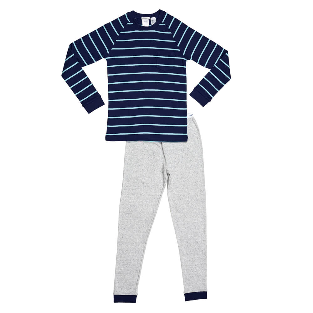 Plain Bright Blue Stripe PJ
