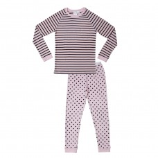 Pink Stripe Plain Teen PJ