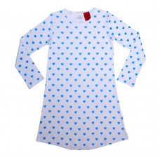 Blue Loveheart Teen Nightie PJ