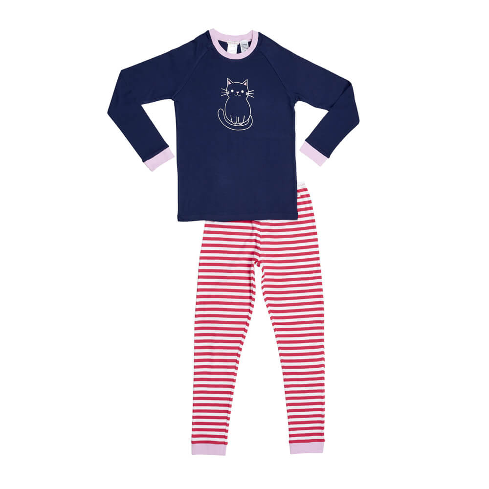 Navy Cat PJ