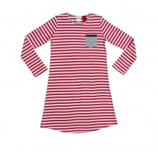 Raspberry Stripe Nightie
