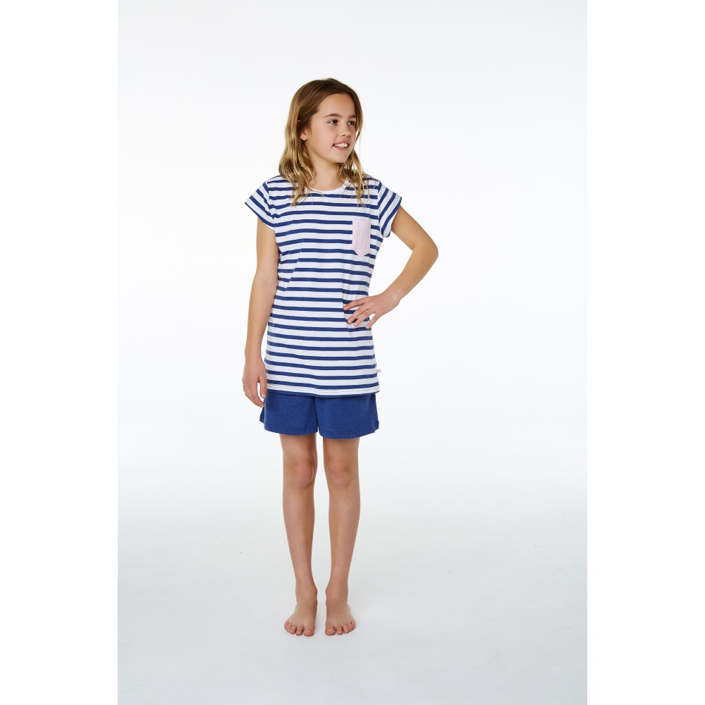 Blue Stripe Pocket SNR Pj